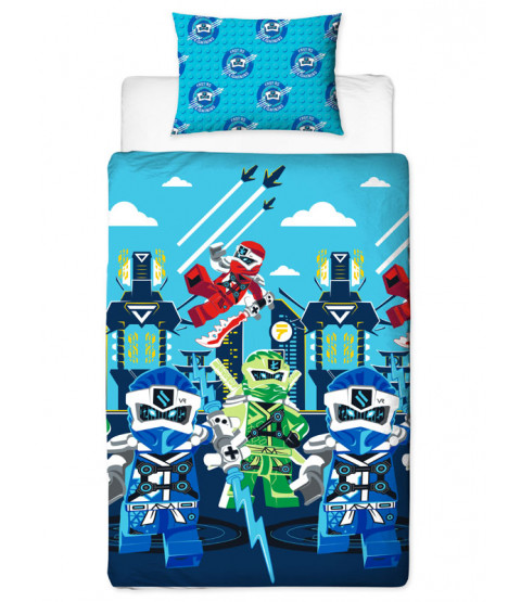 Lego Ninjago Lightning Single Duvet Cover Set