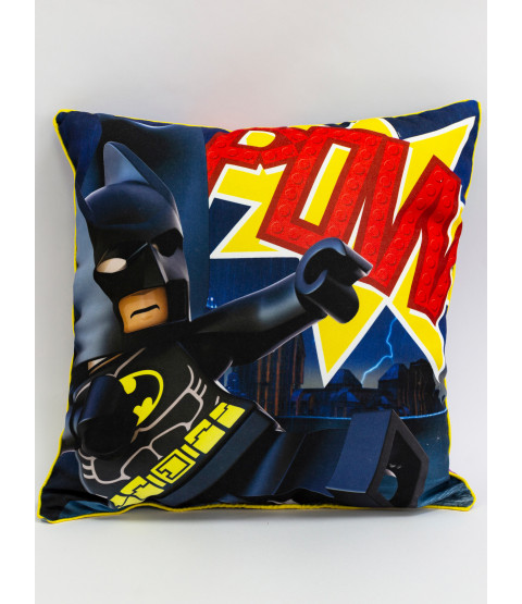 Lego Superheroes Challenge Square Cushion