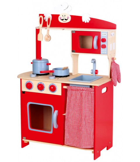 Mini Toy Wooden Kitchen Chef plus Accessories