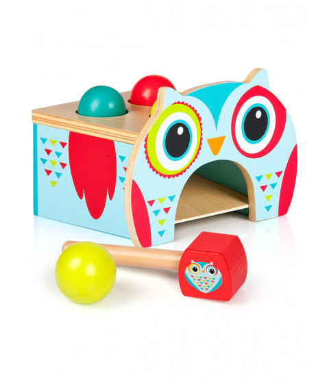 Leomark Wooden Owl Pound and Roll Sorter