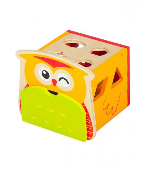 Leomark Wooden Owl Shape Sorter
