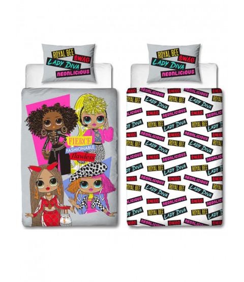 LOL Surprise Buzz Single Duvet Cover and Pillowcase Set