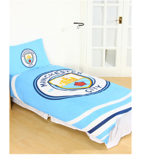 Manchester City FC Pulse Single Reversible Duvet Cover Set