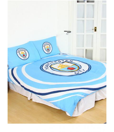 Manchester City FC Pulse Reversible Double Duvet Cover Set