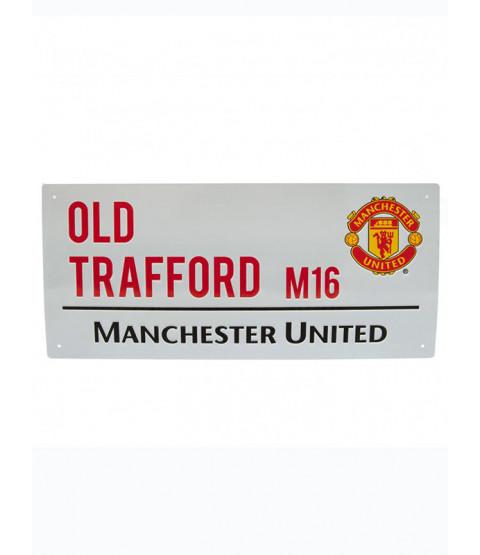 Man United Football Club Old Trafford Street Sign