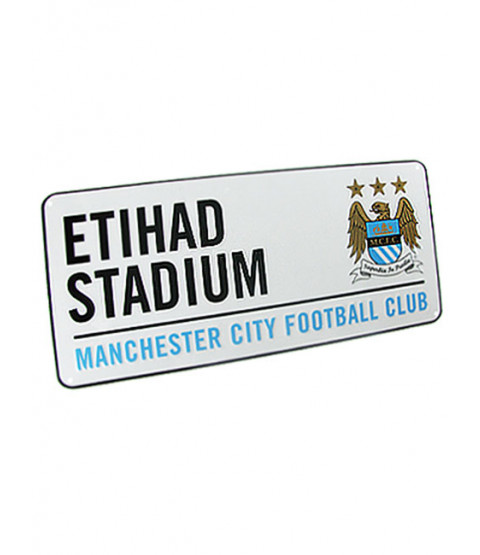 Manchester City FC Etihad Stadium Street Sign