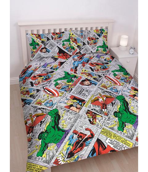 Marvel Comics Retro Double Reversible Duvet Cover Set