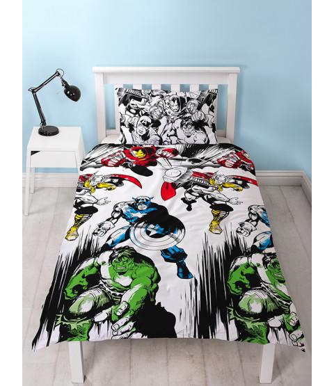 Marvel Comics Set biancheria da letto singolo copripiumino