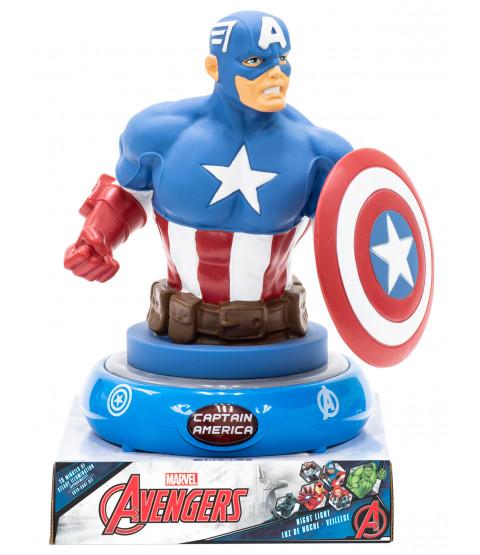 Marvel Avengers Captain America 3D Figure Night Light Lamp