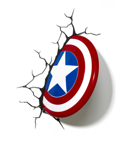 Marvel Captain America Shield 3D LED Wall Light