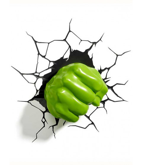 Lámpara de pared LED 3D Marvel Hulk Fist