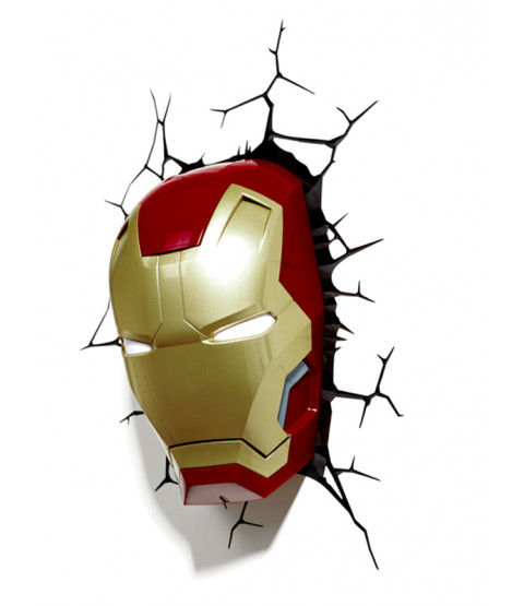 Marvel Iron Man 3D - Lámpara de pared LED