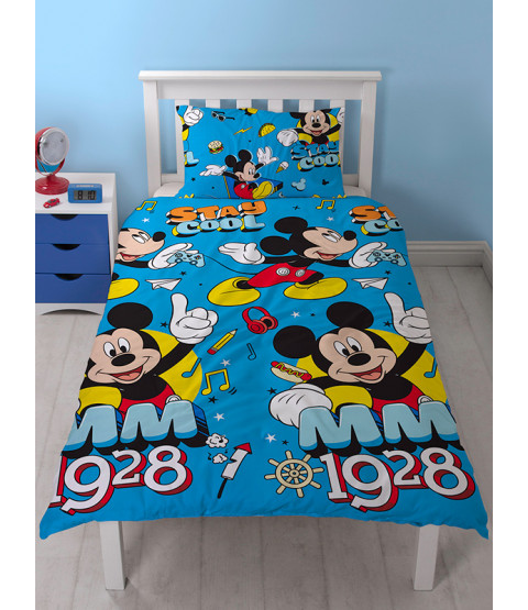Mickey Mouse Cool Single Rotary Duvet Cover Set