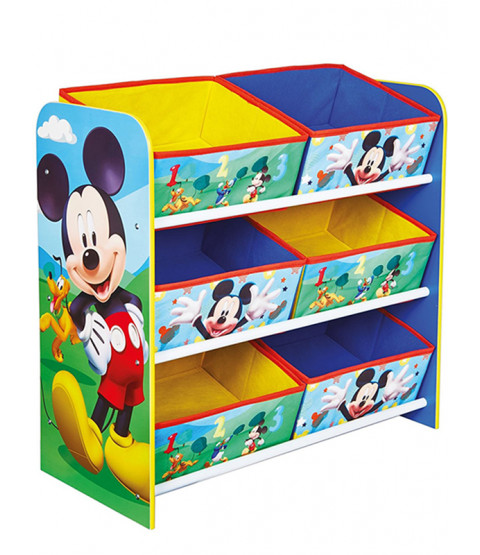 Mickey Mouse 6 Bin Storage Unit
