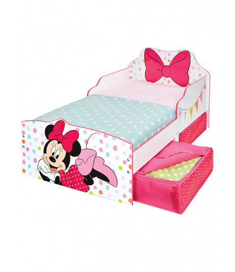 Minnie Mouse Toddler Bed with Storage plus Foam Mattress
