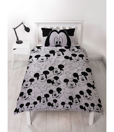 Mickey Mouse Silhouette Single Duvet Cover Bedding Set