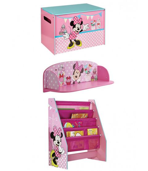 Ensemble de rangement pour meubles de chambre à coucher Minnie Mouse