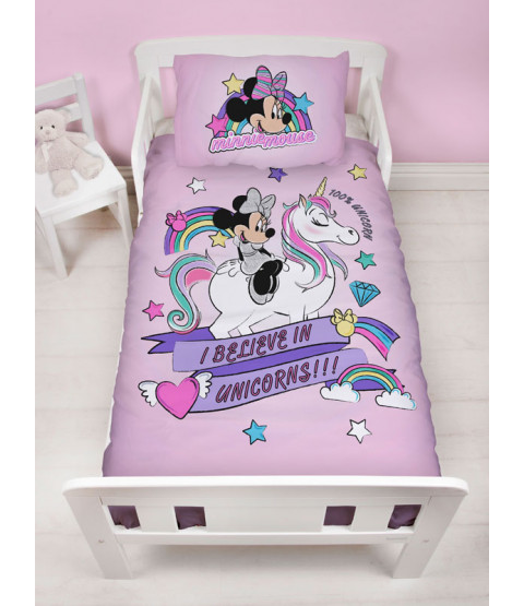 Minnie Mouse Believe 4 in 1 Junior Bedding Bundle Set (Duvet, Pillow and Covers)