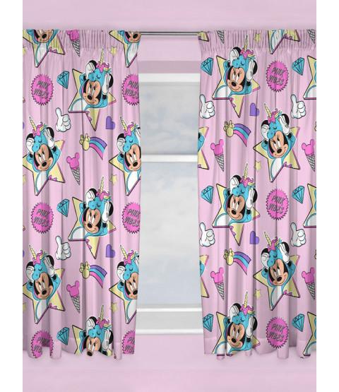 "Minnie Mouse Unicorns Curtains 72"" Drop"