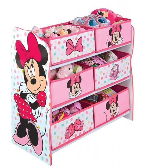 Minnie Mouse 6 Bin Storage Unit