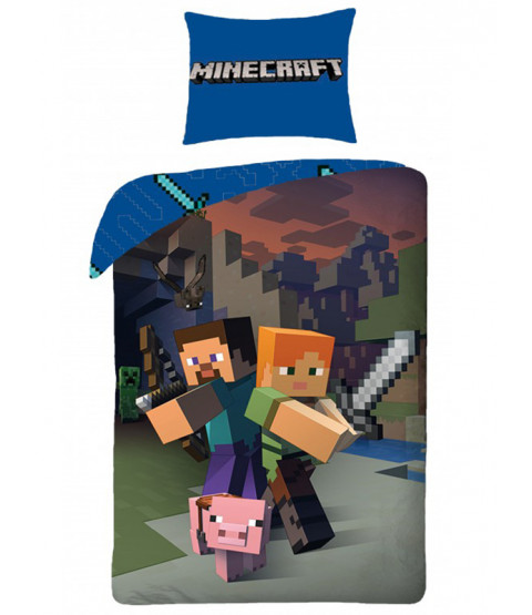 Minecraft Single Cotton Duvet Cover Set - European Size