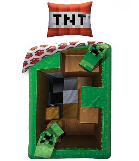 Minecraft Creeper Levels Single Duvet Cover Set - European Size
