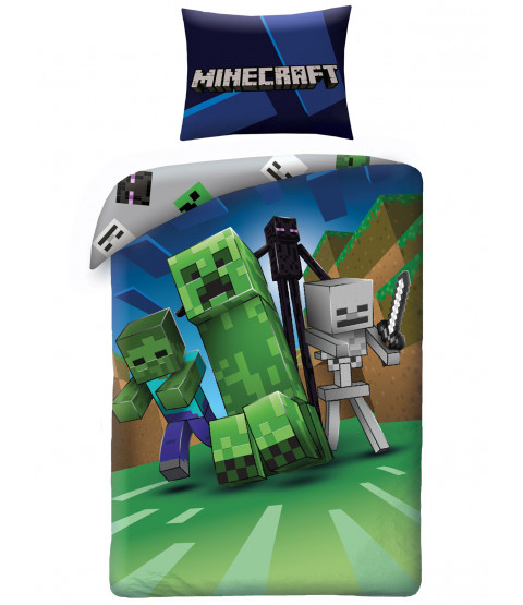 Set copripiumino in cotone singolo Enderman Minecraft - dimensione europea