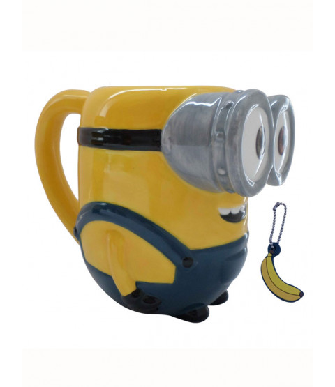 Minions Bob 3D Mug with Banana Scented Charm