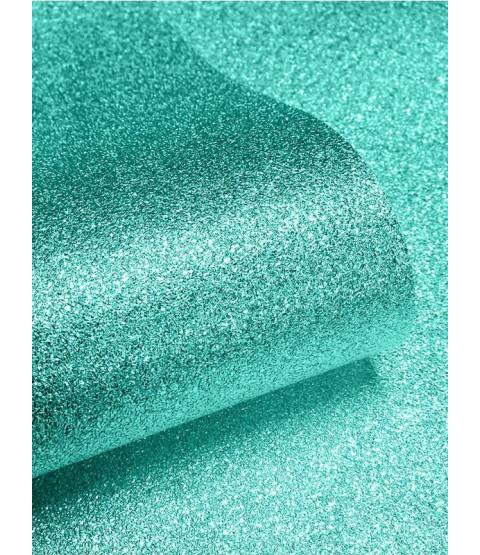 Muriva Teal Sparkle Glitter Effect Wallpaper - 701355