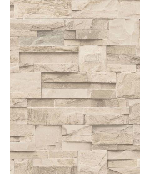 Carta da parati in pietra ardesia di Muriva - Beige - J274-07