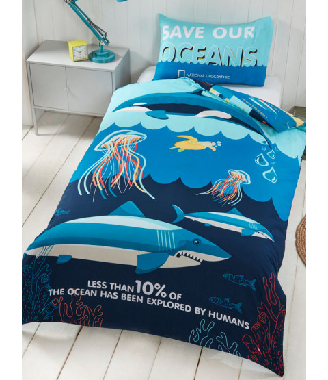 National Geographic Ocean Life Single Duvet Cover Set