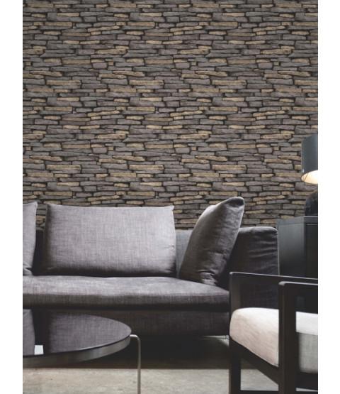 Natural Slate Stone Effect Wallpaper - Fine Decor