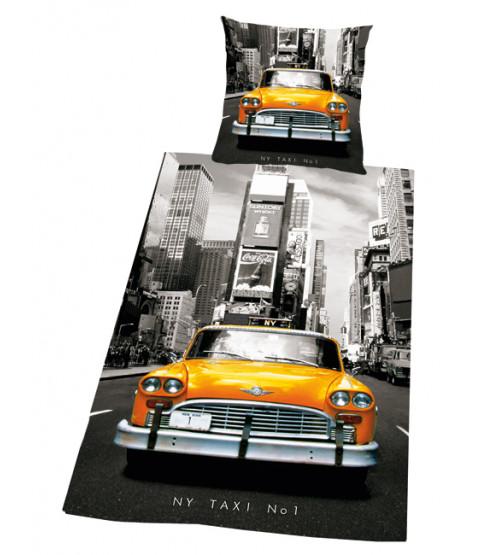 New York City Taxi Cab Duvet Cover & Pillowcase Set