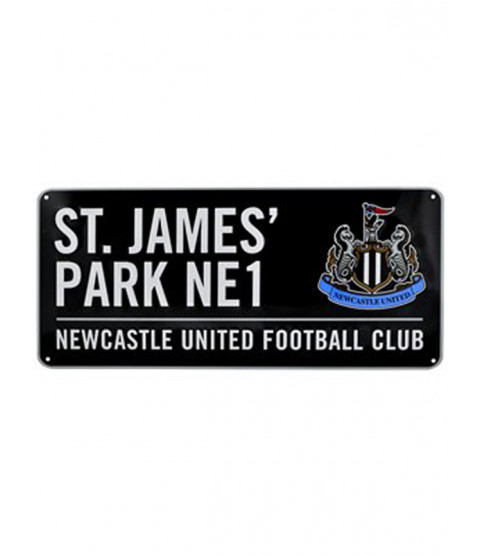 Newcastle United FC St James Park Street Sign - Black