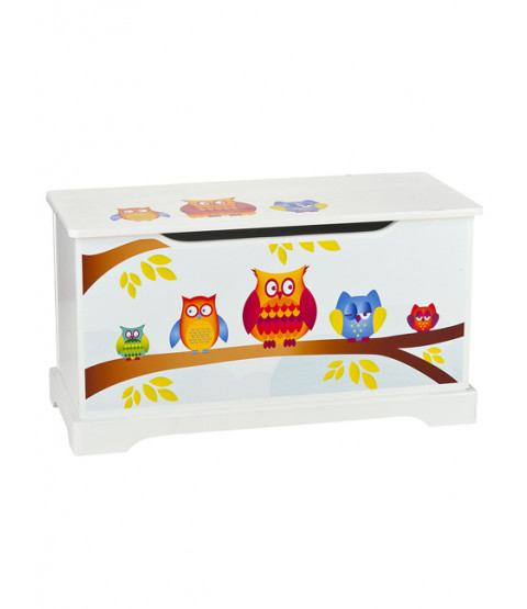 Owls Wooden Toy Box