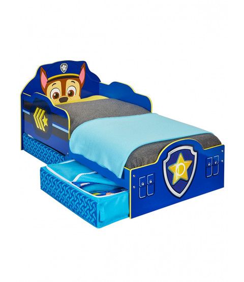 Paw Patrol Toddler Bed with Storage and Mattress