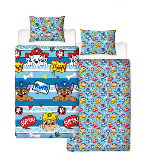 Paw Patrol Peek Single Duvet Cover Set Reversible