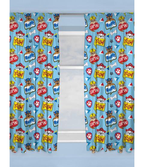 "Paw Patrol Peek Curtains 54"" Drop"