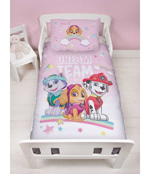 Paw Patrol Pastels Junior Toddler Duvet Cover and Pillowcase Set