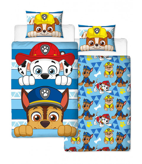 Paw Patrol Peek Reversible Single Duvet Cover Set