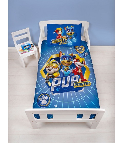Paw Patrol Super 4 in 1 Junior Bedding Bundle Set (Duvet, Pillow and Covers)