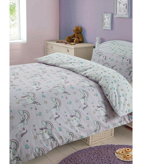 Magic Unicorns Double Duvet Cover and Pillowcase Set