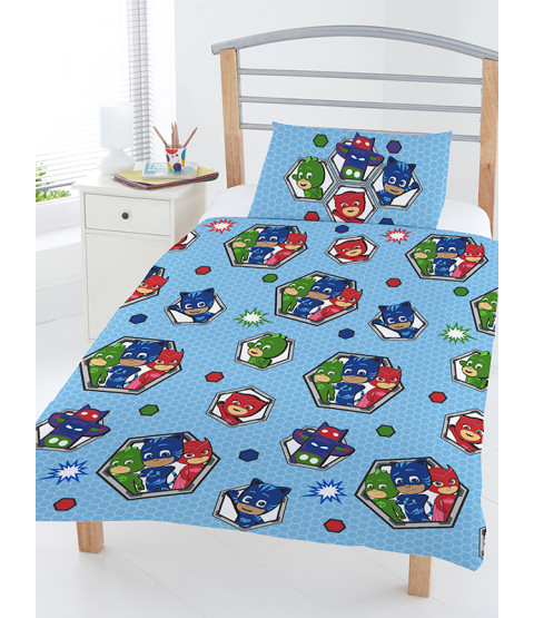 PJ Masks Badges Toddler Duvet Cover & Pillowcase Set