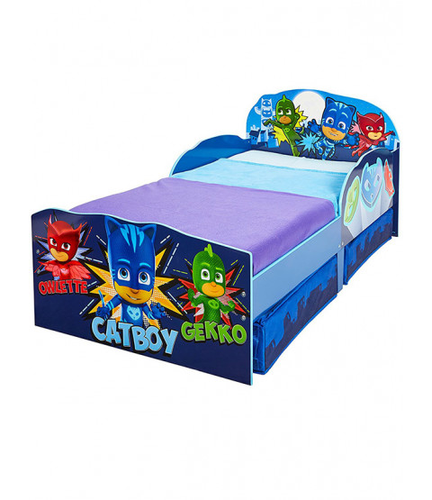 PJ Masks Toddler Bed with Storage and Sprung Mattress
