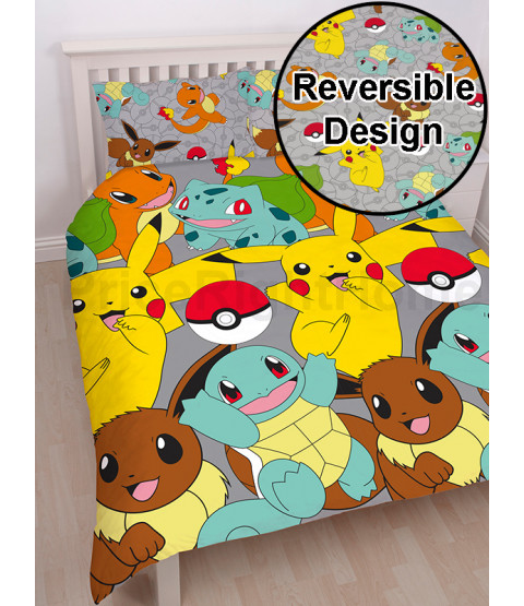 Pokémon Double Duvet Cover Reversible