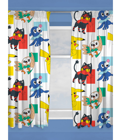Pokémon Dash Curtains 66in x 54in