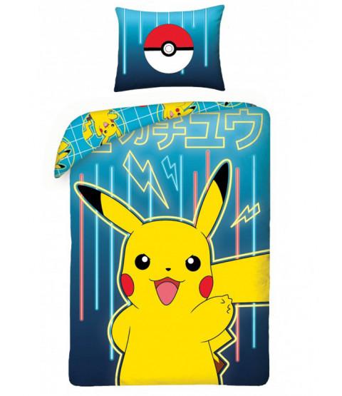 Pokémon Conjunto de funda nórdica de algodón individual azul