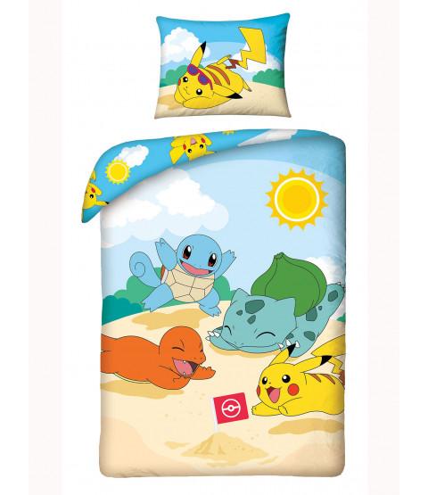 Pokémon Beach Single Cotton Duvet Cover Set - European Size
