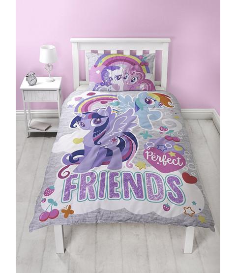 My Little Pony Single Duvet Cover Bedding Set - Panel Design