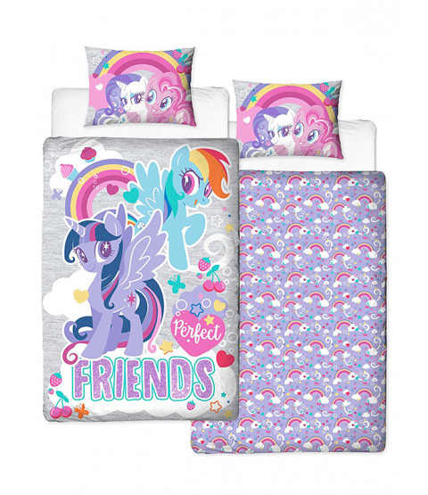 My Little Pony Single Duvet Cover Set - Crush Panel Design